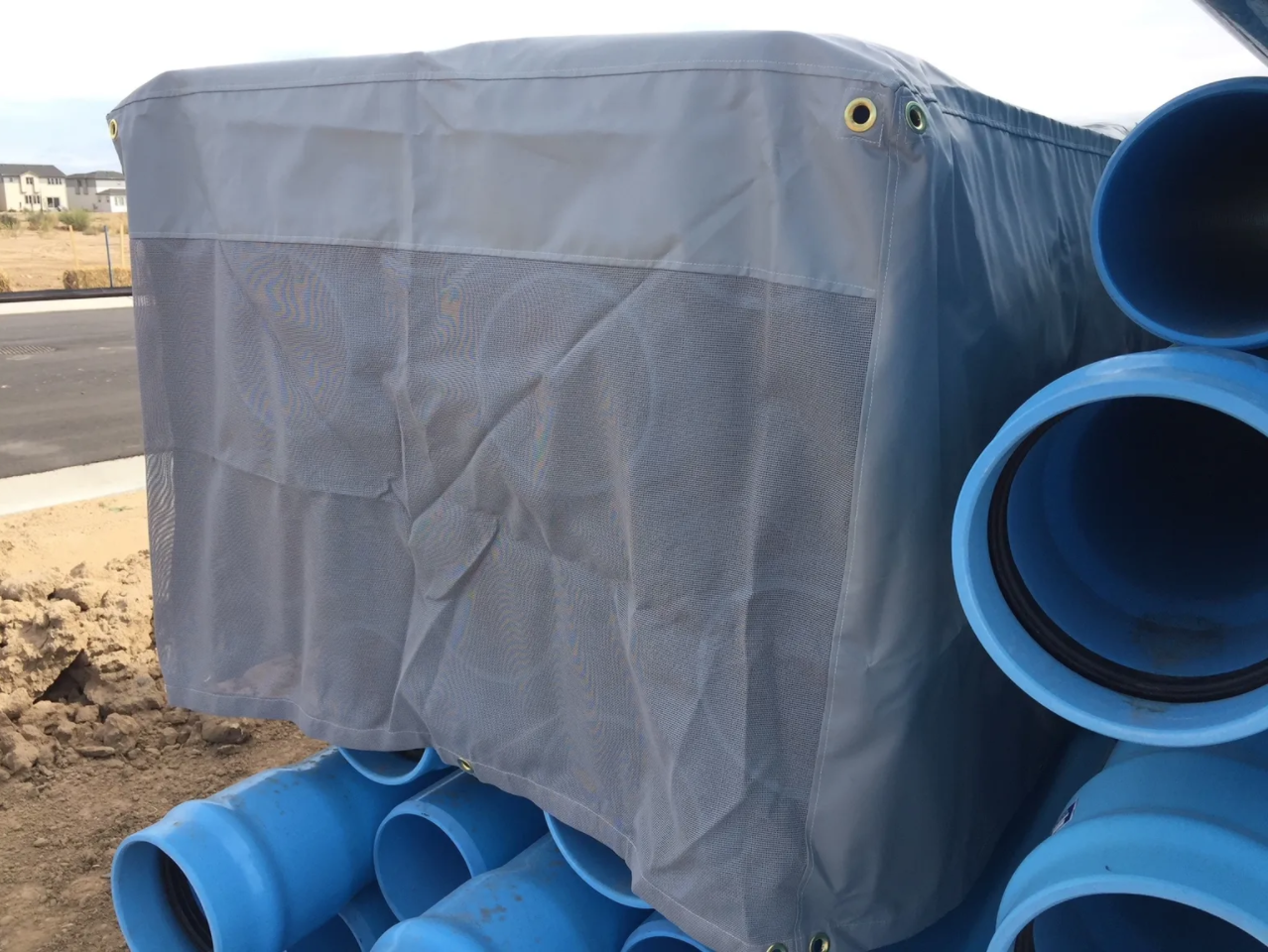 Large industrial pvc pipes